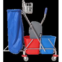 Wózek dwuwiaderkowy 2x17l z uchwytem na worek