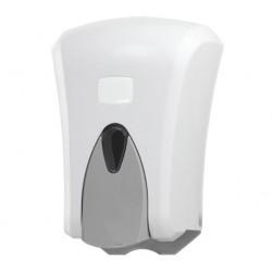 Dozownik do mydła 1l biało - szary